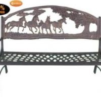 100% Cast Iron Bench With Country Design