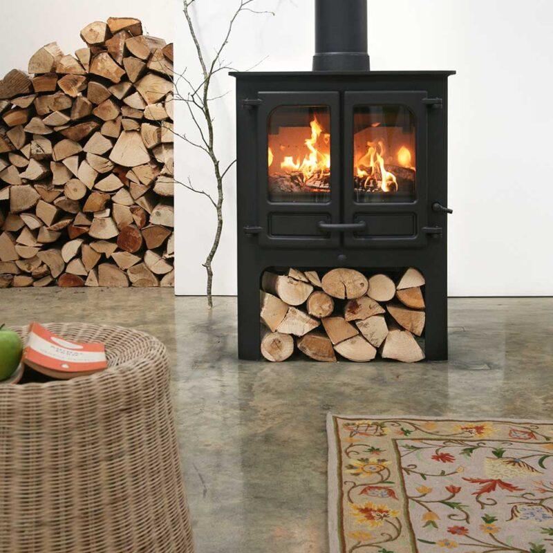 Charnwood Island II Woodburning Stove log store