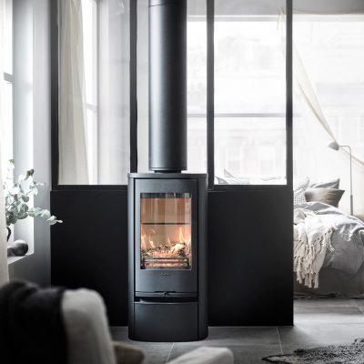 Contura 810 Style black chimney 1