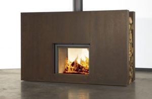 Stuv 21 85 in Corten Rusty Surround