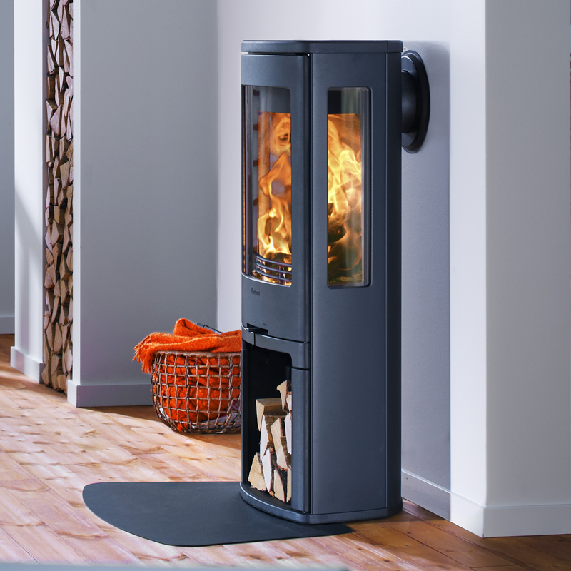 Contura 750 wood burning stove in black