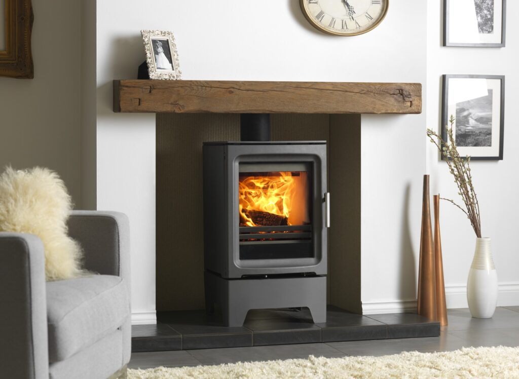 Purevision 5kW Freestanding Stove on Stand in Inglenook