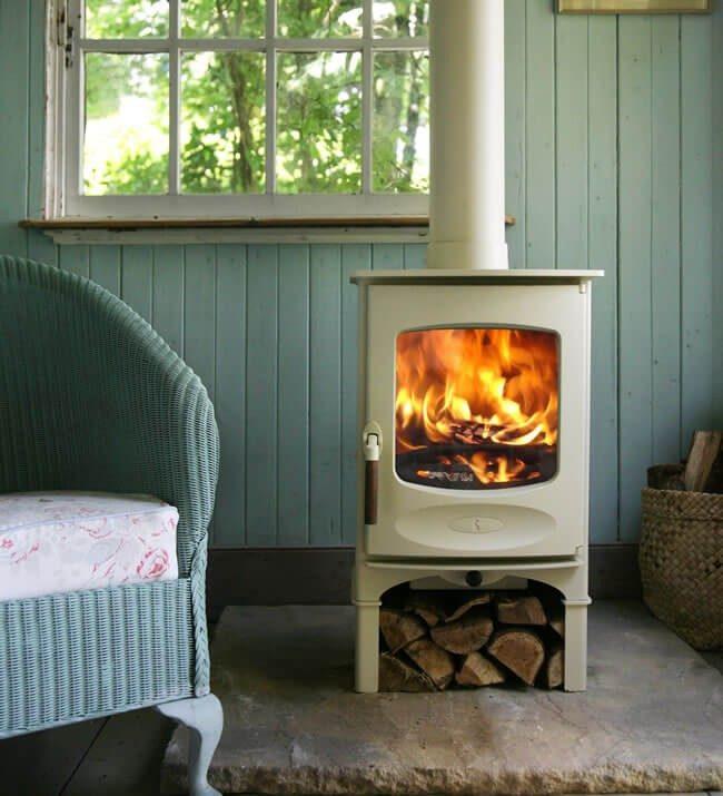 charnwood c four stove optional almond finish logstore