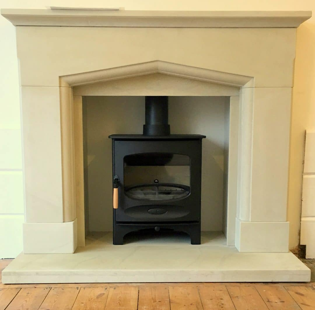 Bath Stone surround and stove 1