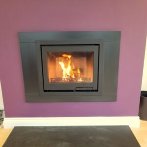 Contura i6 Inset Contemporary Inset Wood burning stove with slate slips and hearth