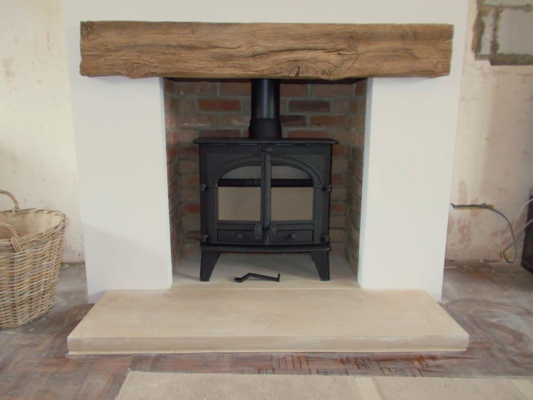 Hunter Consort 9 Slimline Brick Chamber and concrete wood effect beam 1