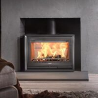Contura 330G installed into a chamber with slate hearth
