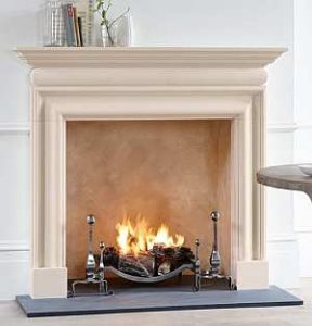 Chesney Ckandon Fireplace in Limestone