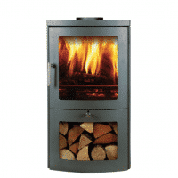 Chesneys Milan 4 series woodburing stove in grey