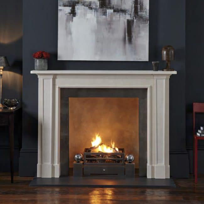 Chesneys Madison Fireplace in a living room
