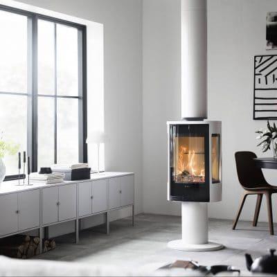 Contura 886G Style white chimney 1 e1563453566471