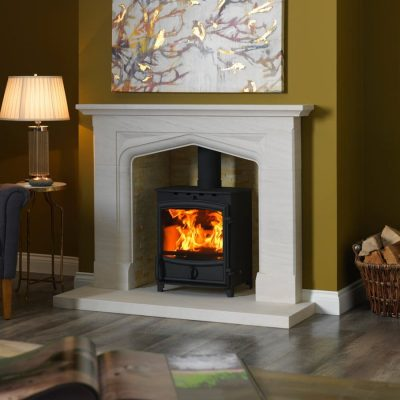 Fireline FX8 in Boscombe Surround with Rustic Slate Liners