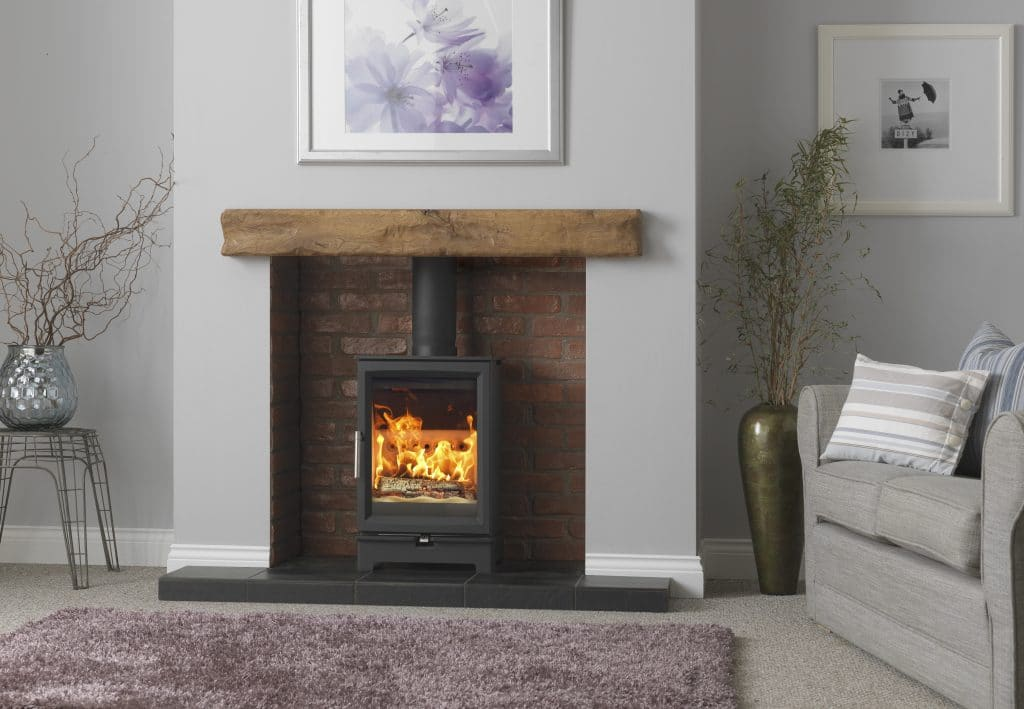 Wooden fireplace mantel and surround installation