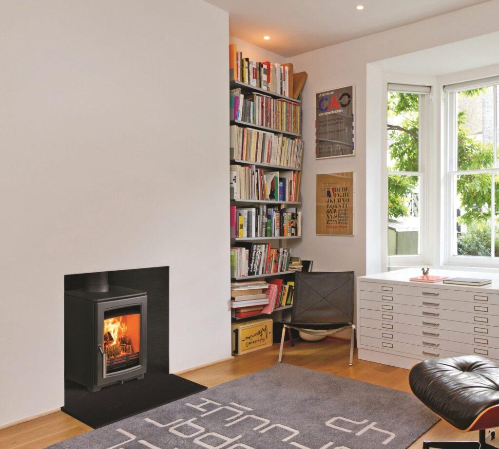 Parkray Aspect 6 wood btove fire by design showroom Wimborne 1