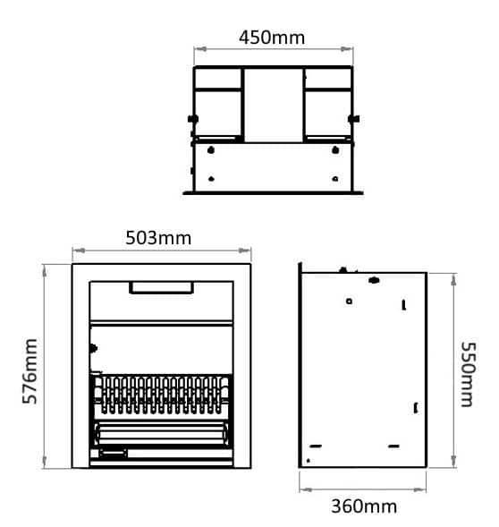jetmaster 18 standard open fire dimensions