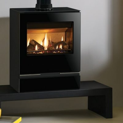 riva vision medium gas with gloss flue pipe 3 mi