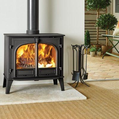 stockton 11 in matt black burning wood mi