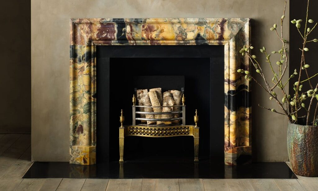 Marble fireplace by Chesney's
