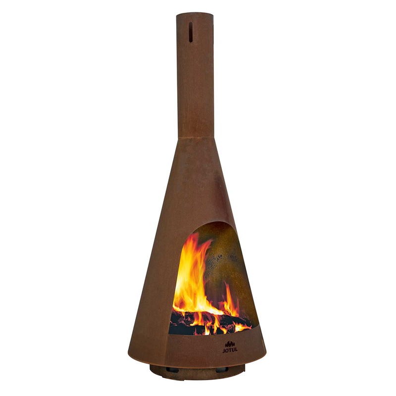 Jotul Froya outdoor fire made in corten steel