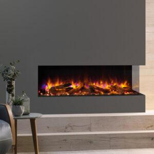gazco ereflex 110w outset electric fire in a false chimney breast