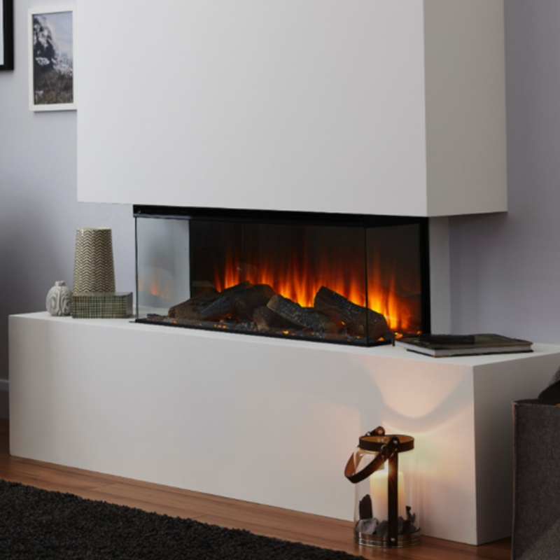 British Fires New Forest Electric Fire 870 built into a surround hole in the wall insert