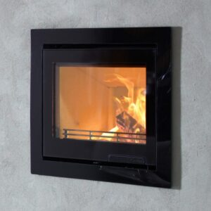 Contura i6G inset wood burning fire built into a wall